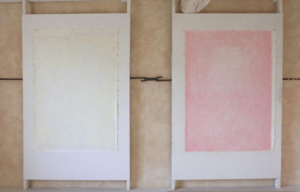 2 dessins dans l'atelier