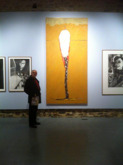 Huile sur toile, 1996, en présence d'estampes de Pierre Colin.