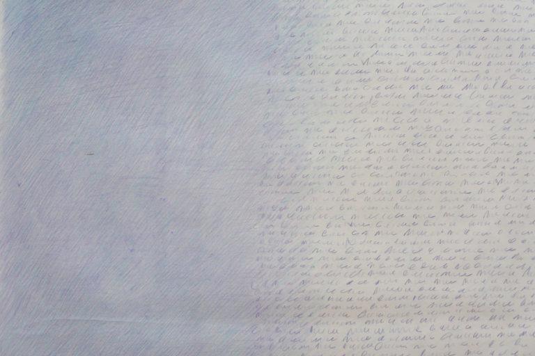 Crayons de couleur, 2018. 144 x 76 cm, détail